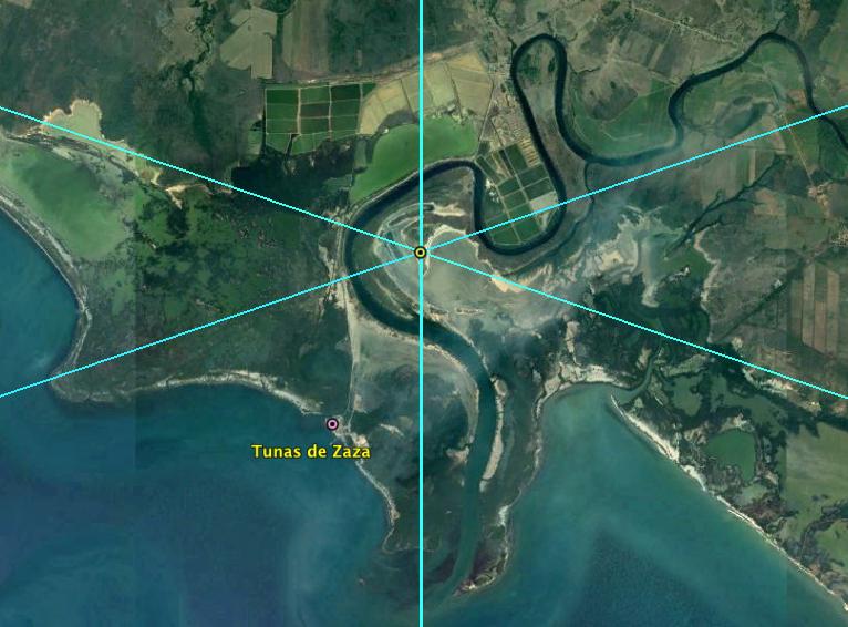 Centro Geográfico cercano a Tunas de Zasa
